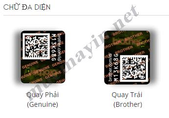 Kiểm tra Mực in Brother TN2150 Chính Hãng bằng chữ đa diện
